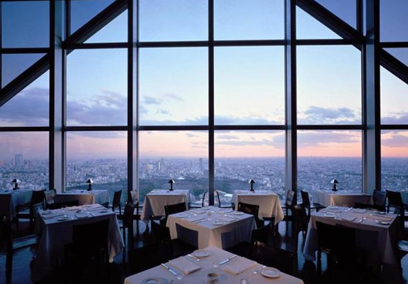 View from the restaurant in the Park Hyatt Tokyo